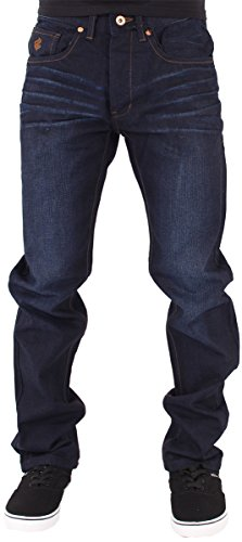 Rocawear Mens Boys Double R Star Relaxed Fit Hip Hop Jeans Is Money G Time DKBlu (W48 - L34, Dark Knight Blue) ()