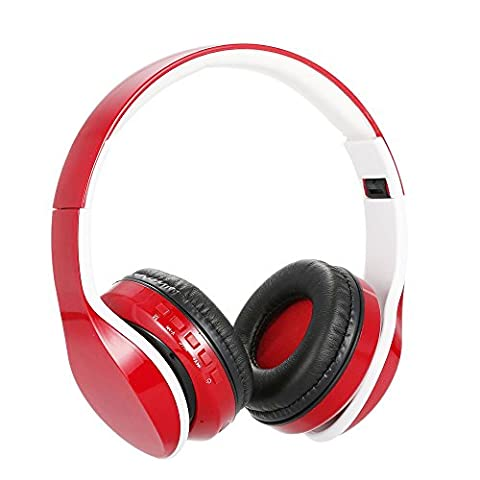 Bluetooth Headphones,Kocopoo OY712 Wireless Stereo Bluetooth 4.1 Headset Music Headphone 3.5mm Audio TF Card MP3 Player FM Radio 4 in 1 Folding Earphone Mic for iPhone and Android (Jogging Mp3 Player Bluetooth)