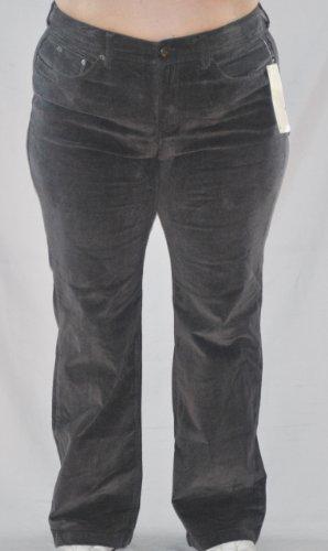 jones-new-york-womens-micro-cord-stretch-jeans-pants-size-16w-gray