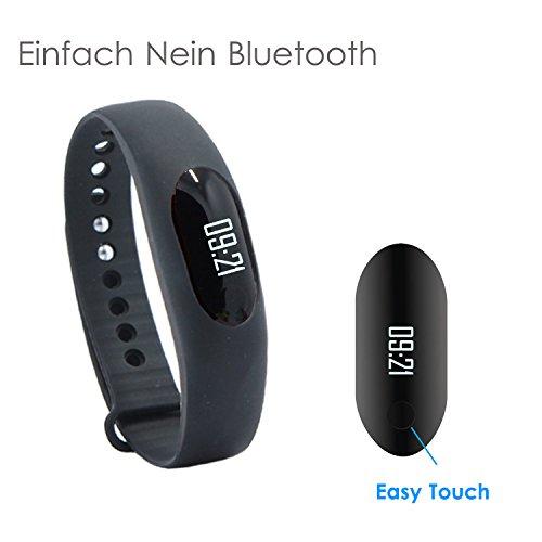 YAMAY® Sport Smart Armband Schrittzähler Uhr Fitness Tracker Aktivitätstracker mit Zeit, Datum,Schritt Rekord, Kalorienzähler, Laufleistung/Geschwindigkeit, Sport-Zeit, Schlafmonitor (Ohne Bluetooth)