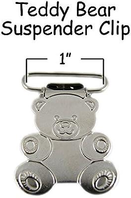"25 Suspender Paci Pacifier Holder Mitten Clips Teddy Bear 3//4/"" w// Inserts"