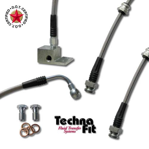 - Techna-Fit Brake Line Kit Mazda 8/1993-2005 MIATA MX-5 SPORT SUSPENSION 4 lines - MA-1110BK