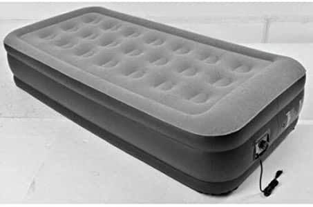 Carrefour - Colchoneta hinchable eléctrica hinchable y desinflada, 196 x 97 x 47 cm, 1 persona, para casa, camping, vacaciones, color aleatorio: Amazon.es: Deportes y aire libre