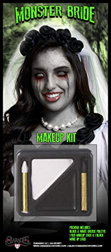 Charades Unisex-Adult's Monster Bride Makeup Kit, as Shown, One Size]()