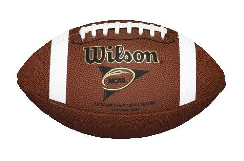 Wilson NCAA Supreme Football with Pump and Tee, Brown by Wilson