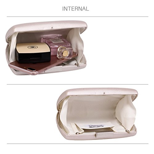 CLUTCH LeahWard Party HARD Women's Case Night IVORY Dinner Out Clutch For Purse Hard CASE Evening Wedding Handbags ppFxgq