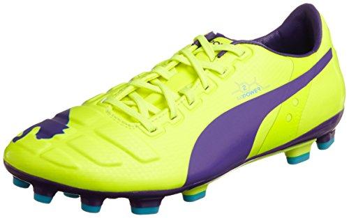 Puma evoPOWER 2 AG, Scarpe da calcio Uomo Arancione (Orange (Fluro Yellow-prism Violet-scuba Blue 02))