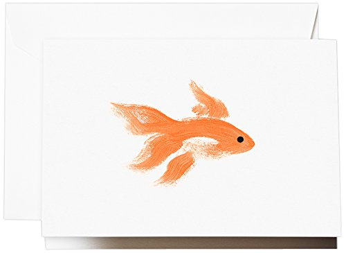 - Crane & Co. Brushstroke Goldfish Note (CF1500)