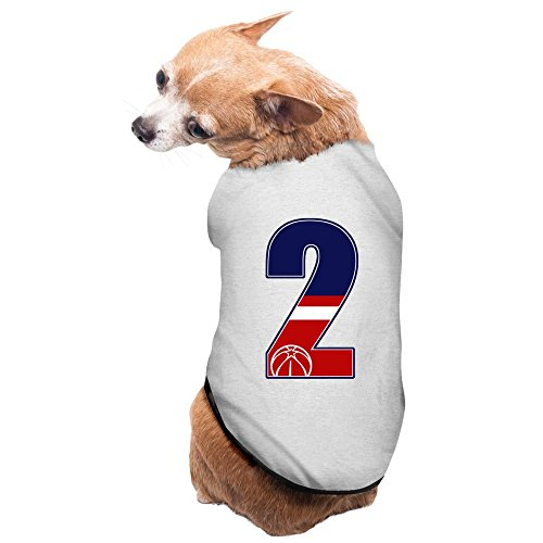 Costumes Raleigh (ZULA Brand New Raleigh Basketball Player #2 Doggie Costumes Gray Size S)