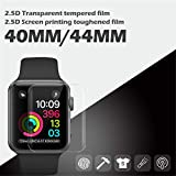 campsinery 0.33mm Screen Protector for Apple Watch Series4 40MM 44MM - [Anti-Scratches] [Tempered ] [2.5D 9H Hardness] HD Transparent/Silk Screen Film