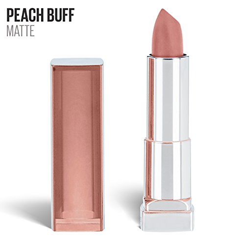 Maybelline New York Color Sensational Nude Lipstick Matte Lipstick, Peach Buff, 0.15 oz