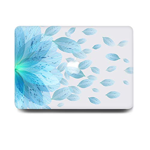 One Micron Compatible MacBook Air 13 Inch Case Plastic Pattern Clear Hard Matte Case Shell Compatible MacBook Air 13.3 Inch (Model: A1369 and A1466)-Mint Blue Petal