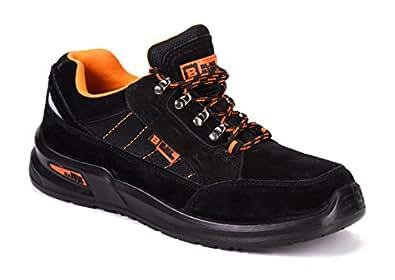 Botas para Hombre De Seguridad Puntera De Acero Zapatos De Trabajo Senderismo Plantilla De Protección Unisex-Adulto S1P CE Aprobado Black Hammer 9952 (39 EU / 5 UK, Negro)
