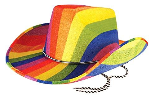 Rainbow Cowboy Hat (Mens Ladies Rainbow Multi Colour Pride Fancy Dress Costume - Pick & Mix (Onesize Fits All, Ranibow Cowboy Hat))