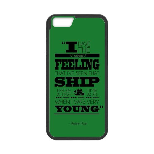 """Fayruz - iPhone 6 Rubber Cases, Peter Pan Never Grow Up Hard Phone Cover for iPhone 6 4.7"""" F-i5G108"""