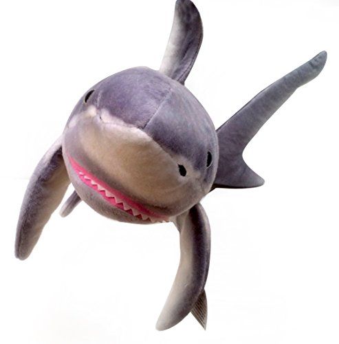 Viahart 37 Inch Large Great White Shark Stuffed Animal