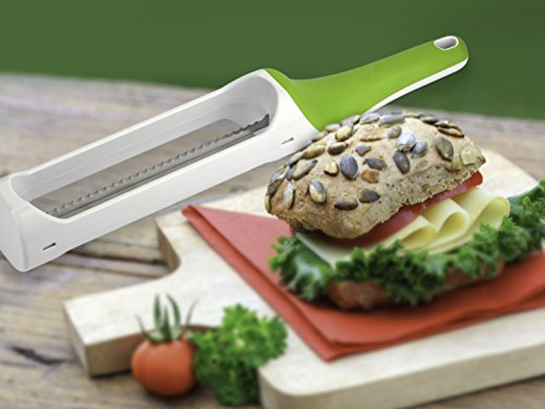 Urban Trend Hometown Bagel Knife - Safely and Effortlessly Slices Bagels, Baguettes, Biscuits, Croissants, Dinner Rolls, English Muffins, and Buns Without Fear of Cuts and Injury - Dishwasher-Safe by Urban Trend (Image #9)