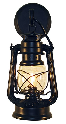 (Rustic lantern wall mounted light - Small Black by Muskoka Lifestyle Products)