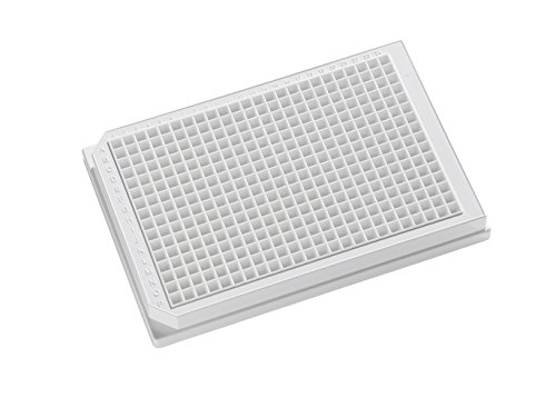 OPAQUE SOLID POLYSTYRENE ASSAY PLATES, 384-Well Microplates - 120µl square well, 384-well 120uL Polystyrene, White, Tissue Culture Treated, With Lid. Individually packed. by Porvair-Finneran