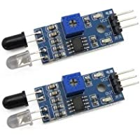 Easy Electronics 2 Pcs IR Proximity Sensor for line follower and Obstacle sensing Robots - IR Sensor