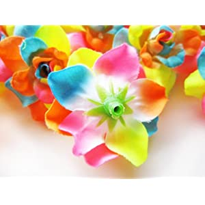 """(100) Silk Neon Roses Flower Head - 1.75"""" - Artificial Flowers Heads Fabric Floral Supplies Wholesale Lot for Wedding Flowers Accessories Make Bridal Hair Clips Headbands Dress 5"""