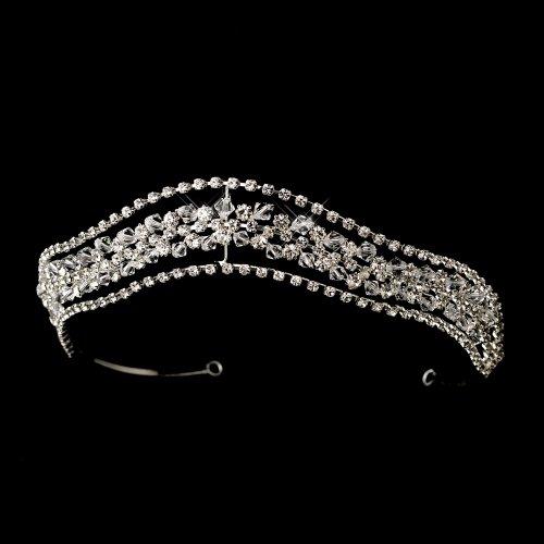 Cassandra Silver Clear Wedding Bridal Tiara Headpiece