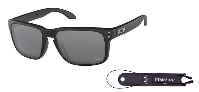 46b4c1dcfa4 Oakley Holbrook OO9102 9102D4 57M Blue Black Black Iridium Sunglasses For  Men For Women+ BUNDLE