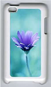 iPod 4 Case Cover,Purple Flower Hard Case Cover for Apple iPod 4/ ipod 4th Generation PC Plastic White