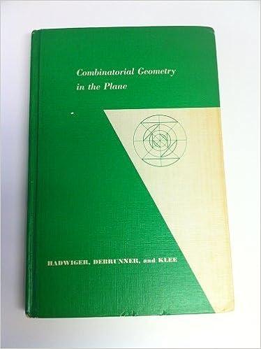 Combinatorial Geometry in the Plane.