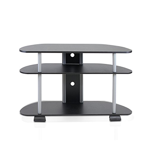 Furinno 99603BK/GY Turn-N-Tube 3-Tier Entertainment Center,
