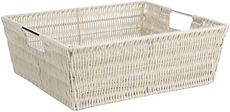 Whitmor Rattique Shelf Storage Tote Basket - Latte  sc 1 st  Amazon.com & Storage Containers | Amazon.com