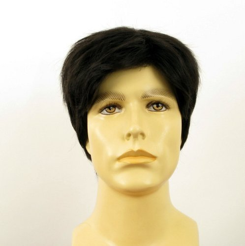 univers perruque Natural Hair Short Wig For Man Black Ref Pierre 1b