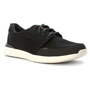 Reef Men's Rover Low Fashion Sneaker, Black, 8 M US
