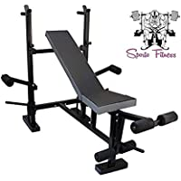 SPORTO FITNESS 8-in-1 Multi-Purpose Weight Home Gym Exercise Bench Press