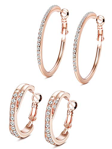 Jstyle 2Pairs Hoop Earrings...