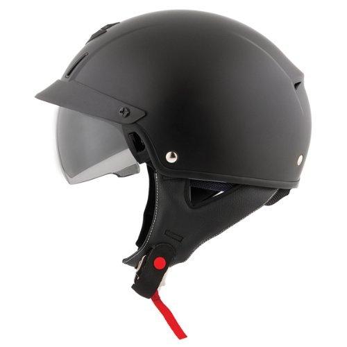 ScorpionExo Unisex-Adult half-size-helmet-style EXO-C110 Helmet (Matte Black,XXX-Large), 1 Pack