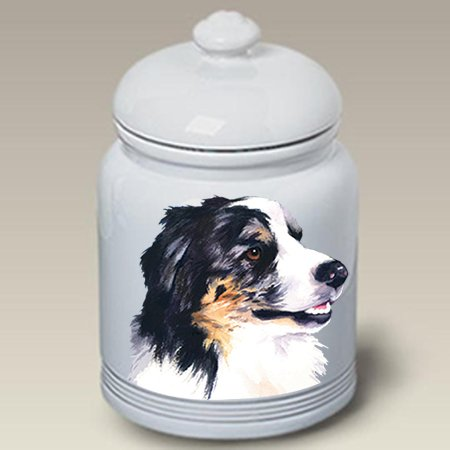 Australian Shepherd - Barbara Van Vliet Ceramic Treat Jars (Shepherd Treat Jar)