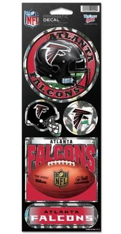 NFL Atlanta Falcons Prismatic Stickers, Team Color, One Size Falcon Stickers
