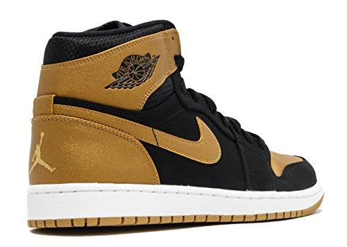 Nike Herren Air Jordan 1 Retro High Turnchuhe, Talla Black, Metallic Gold-white