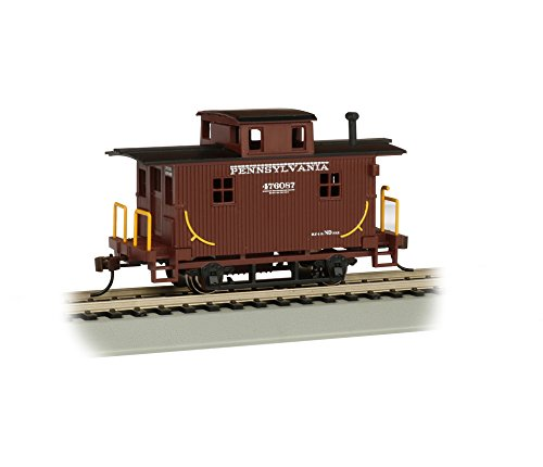 Bachmann - Pennsylvania Railroad #476087 Bobber Caboose, Prototypical Brown (Scale Pennsylvania Railroad)