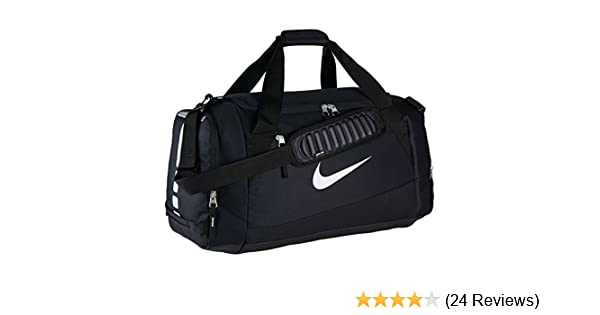 a565579a9c1 Amazon.com  Nike Hoops Elite Team Black Duffel Gym Bag for Men and Women   Sports   Outdoors