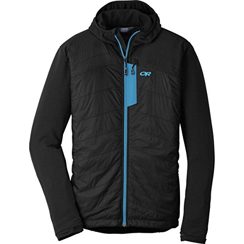 Outdoor Research Men's Deviator Hoody, Black/Tahoe, Small by Outdoor Research