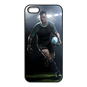 Rugby Image On The iPhone 5 5s Black Cell Phone Case AMW895974