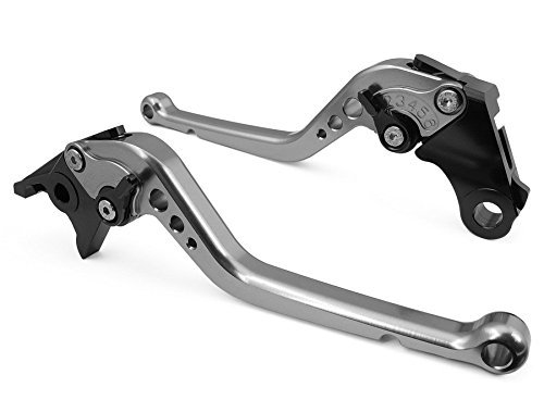 USL-106 Long Adjustable Motorcycle Brake and Clutch Levers for HYOSUNG GT250R 2006-2010-Gray