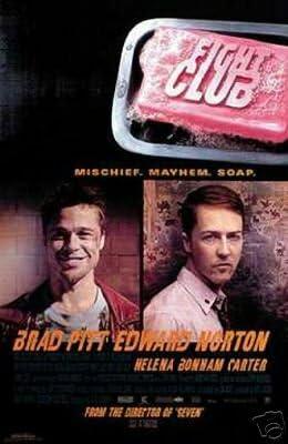 FIGHT CLUB Movie Poster Print List of Rules Brad Pitt Edward Norton 24x36 NEW