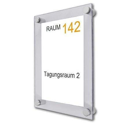 Cartel acrílico A2 con placa para puerta de aluminio soporte ...