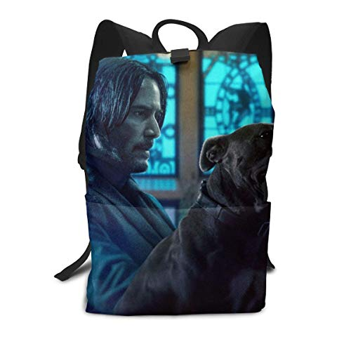 Zu Cu Cu Laptop Backpack for Women Men, John Assassin Wick School College Bookbag for Girls Boys Fashion Travel Back ()