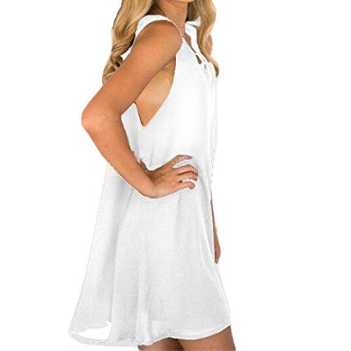 Keepfit Chiffon Plus Size Midi Dress, Women Sleeveless Loose Front Cross Dresses