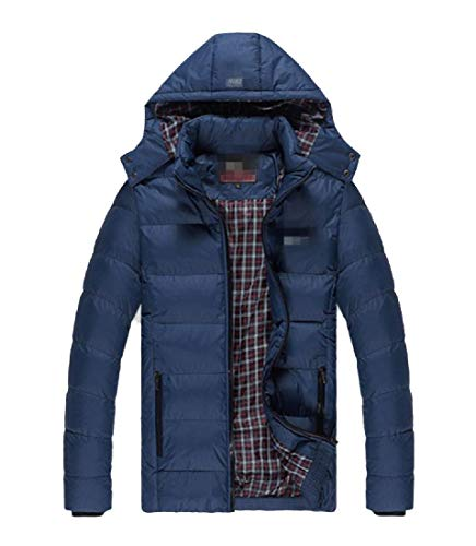 Jacket RkBaoye Outdoor Warm Hood Thicken Size Men's Dark Blue Plus with Loose Anorak 8q8Fwftrn