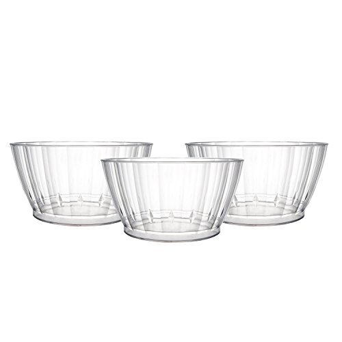 Party Essentials Deluxe/Elegance Quality Plastic 6-Ounce Fruit/Nut/Dessert Bowls, Clear, 20 Count
